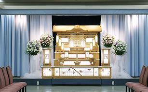 松戸市の葬儀場、祭壇の写真