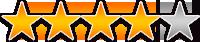 お客様アンケート評価:星★4.0